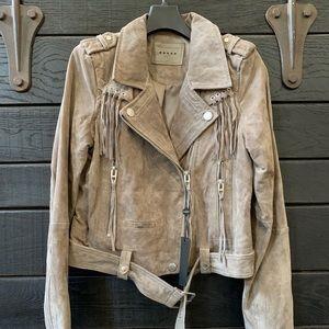 Blank NYC Genuine Leather Fringe Jacket